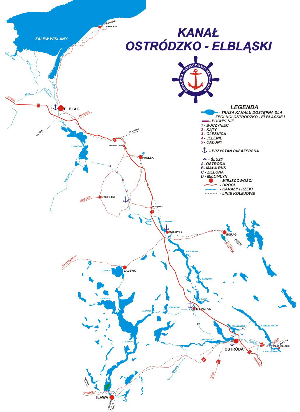 Bildergebnis für kanal ostrodzko-elblaski karte