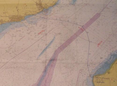 Záznam trasy přeplavby